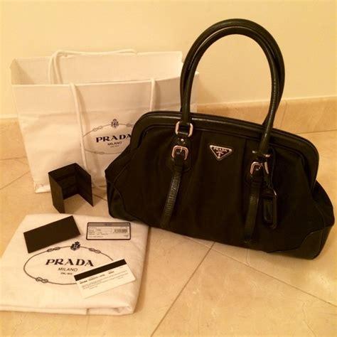 Prada Lc 1ba106 Black 41 prada handbags authentic prada tessuto black bag
