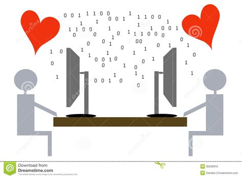 images of virtual love virtual love illustration royalty free stock photo