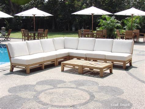 outdoor sectional seating nice teak sectional outdoor furniture outdoor deep seating