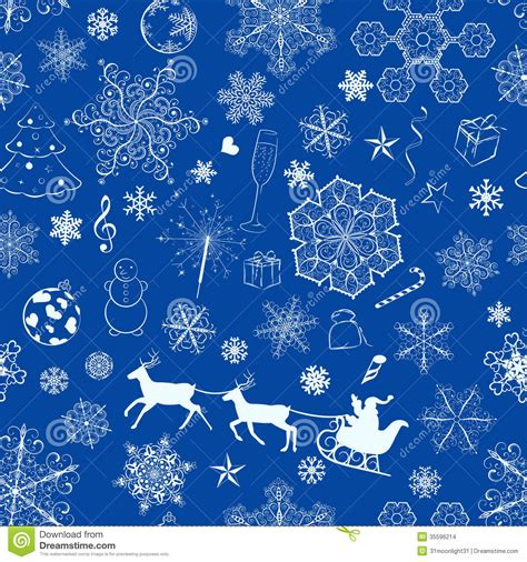 christmas pattern blue christmas seamless blue pattern stock images image 35596214