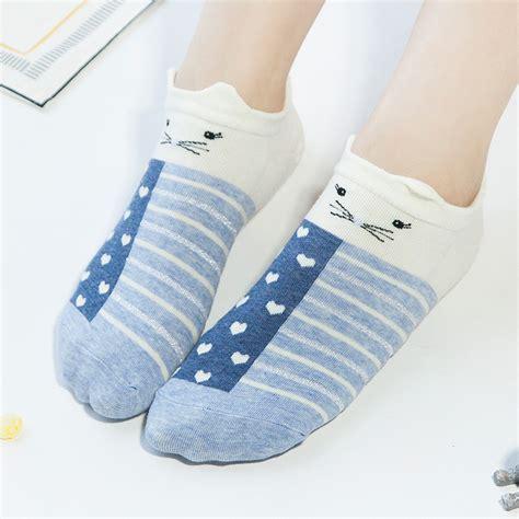 Animal Print Low Socks new womens animal print cotton low cut