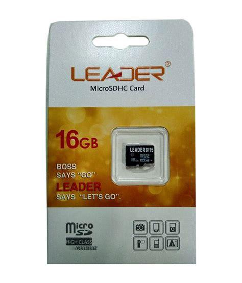 Memory Micro Sd 16 leader micro sd 16 gb memory card black memory card buy leader micro sd 16 gb memory card