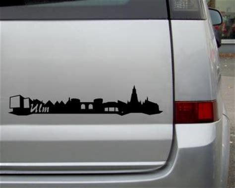 Aufkleber Drucken M Nster by Aufkleber Ulm Skyline Autoaufkleber 25 Farben Autosticker