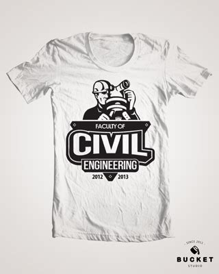 design t shirt civil engineering logo design faculty of civil engineering uitm on behance