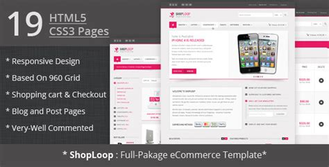 Shoploop Responsive Html5 Ecommerce Template By Ahmedchan Themeforest Html5 Ecommerce Template