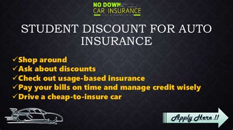 Discount Auto Insurance by Discount On Student Auto Insurance Get Student Car