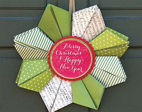 Origami New Year Decorations - 10 cool new year wreath ideas https interioridea net