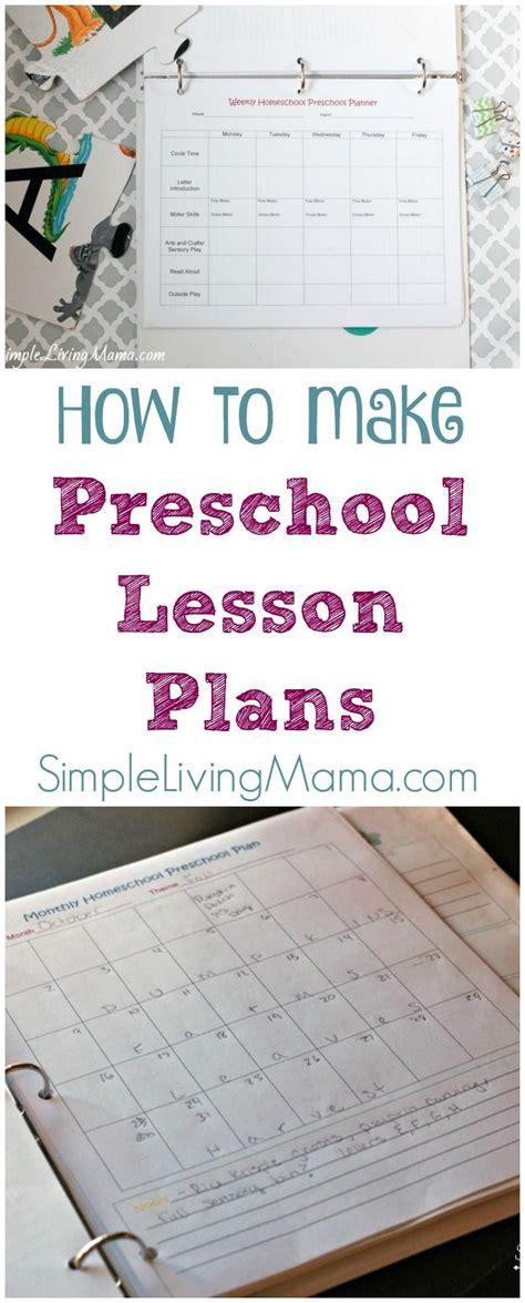 homeschool lesson plan for preschool how to make preschool lesson plans preschool lessons