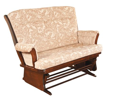 loveseat glider rocker haf no 811 loveseat glide rocker herron s amish furniture
