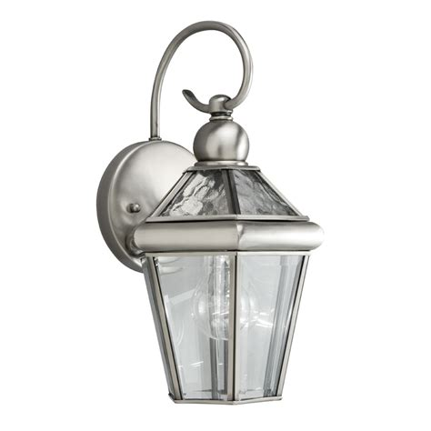 Pewter Outdoor Lighting Shop Portfolio Capretti 13 37 In H Antique Pewter Outdoor Wall Light At Lowes