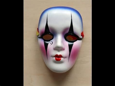 porcelain doll mask small porcelain masquerade doll mask with eye makeup