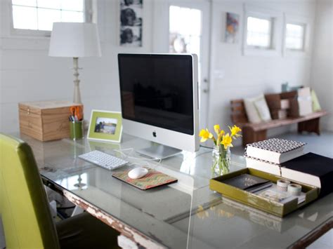 How To Organize Office Desk 5 Tips For Home Office Organization Hgtv