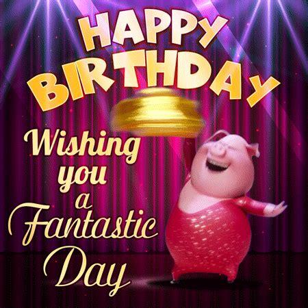 wishing   fantastic day funny happy birthday animated gif   funimadacom
