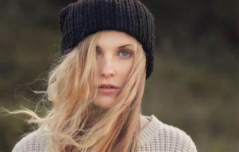 hair bind download wallpaper eyelashes blonde jacket the wind hat hair