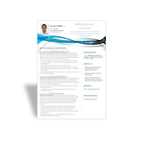 Cv Template Word by Word Cv Resume Templates Executive Assistant