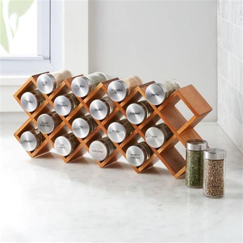 18 Jar Acacia Wood Spice Rack   Crate and Barrel