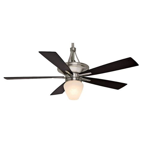 brushed nickel ceiling fan with light hton bay sidewinder 54 in indoor brushed nickel