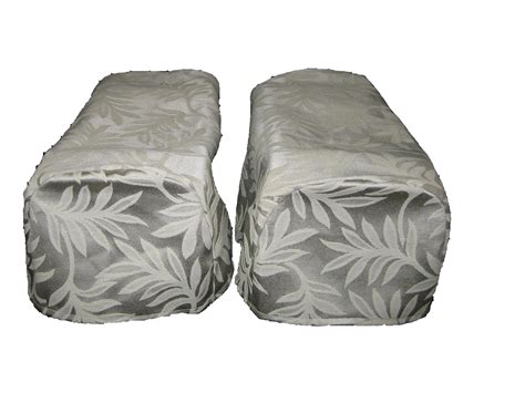 covers for settees pair cream arm cap chair settee covers decorative x 2 ebay