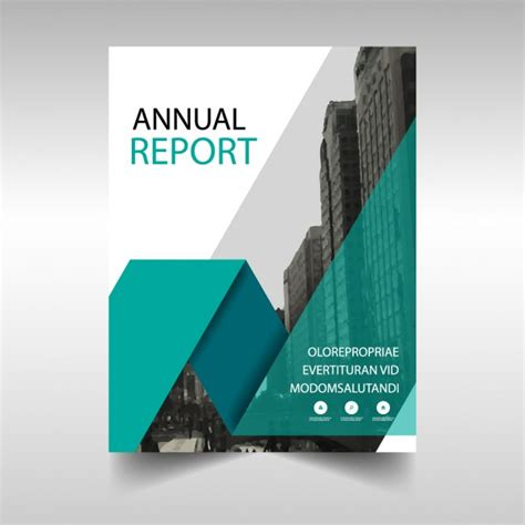 green annual report cover template vector free download