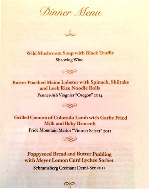 chinese american house menu state dinner for xi features american cuisine with chinese elements people s daily