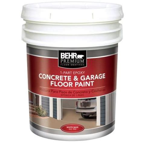 BEHR Premium 5 gal. White 1 Part Epoxy Acrylic Concrete