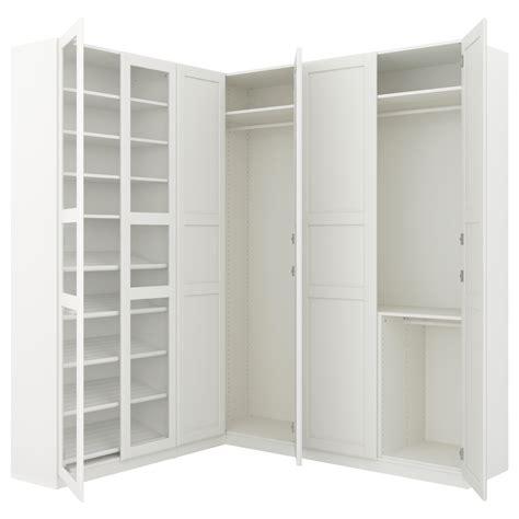 Ikea Corner Pax Wardrobe by Pax Corner Wardrobe White Tyssedal Tyssedal Glass 210 188x236 Cm Ikea