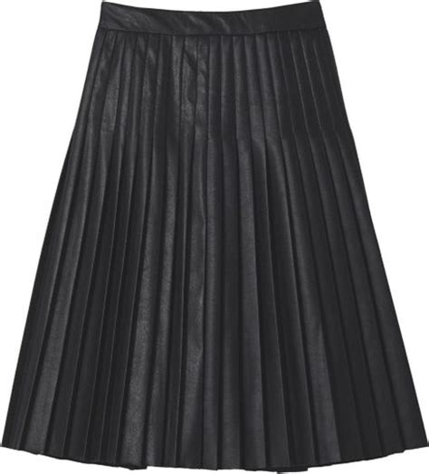 faux leather pleated skirt in black lyst