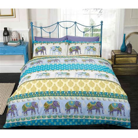 tesco elephant comforter indian elephant duvet cover set with paisley motifs in
