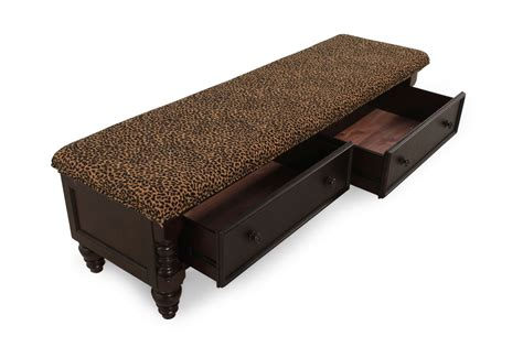 leopard bench image gallery leopard bed bench