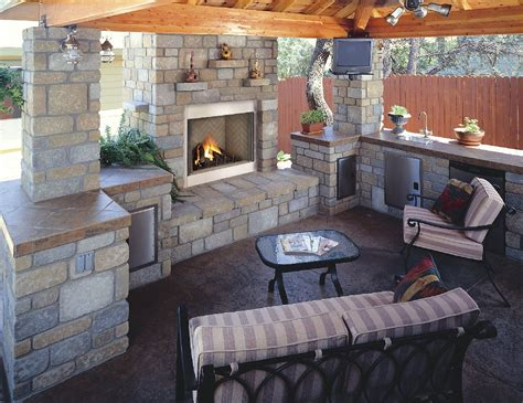 outdoor kitchen and fireplace designs lawn garden contemporary outdoor fireplace ideas