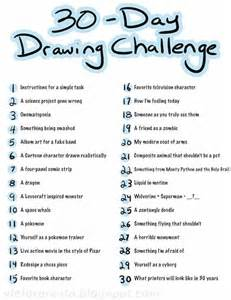 1000 ideas about 30 day drawing challenge on pinterest