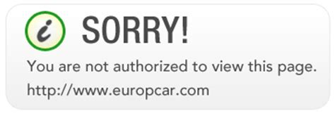 you are not authorized to view this page microsite europcar com