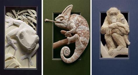 ini dia patung hewan 3 dimensi dari kertas