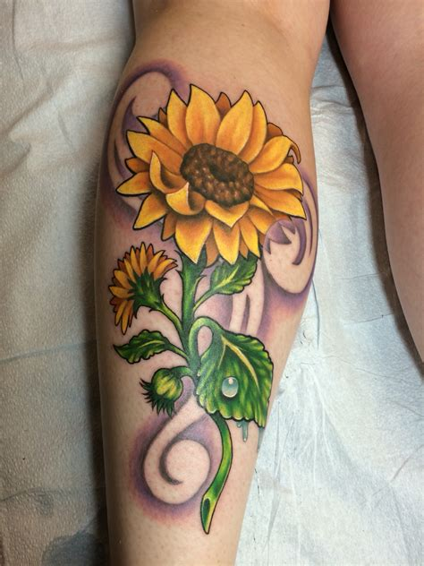 traditional sunflower tattoo my sunflower by eric at pikes peak in