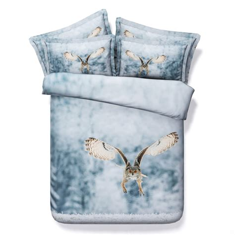 Bedcover 3d 3 In 1 180x200cm Femina 1 Set owl bedding set 3d quilt duvet cover for bed sheet bedspreads california