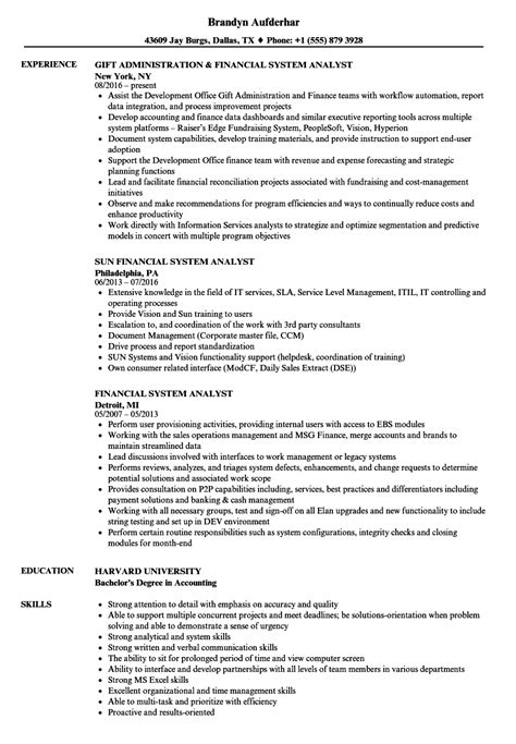system analyst resume sample business analyst resume business