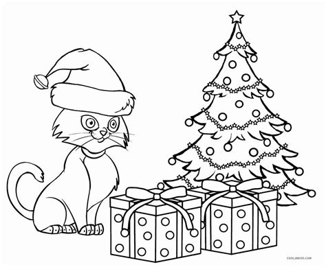 christmas kitty coloring page free printable cat coloring pages for kids cool2bkids