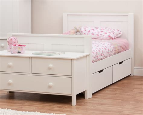 single bed with drawers classic single bed with underbed drawers by stompa
