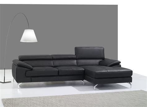 italian leather sectional with chaise a973b black italian leather mini raf chaise sectional from