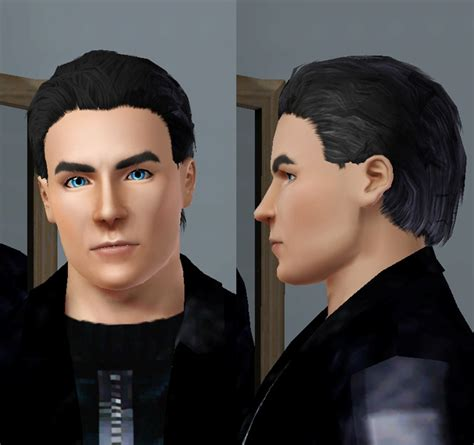 teenage guys combed hair mod the sims men s messy combed back hair teen to elder