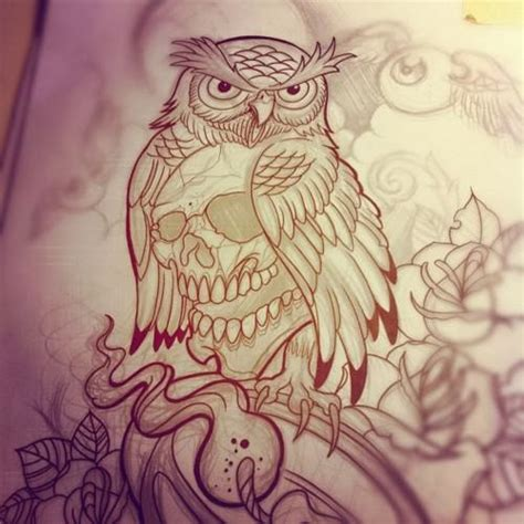 draw owls tattoos pictures to pin on pinterest tattooskid