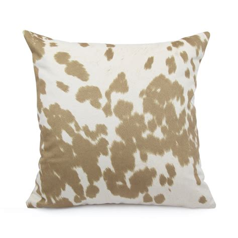 cowhide print pillow cover 18x18 20x20 22x22 or