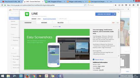 chrome untuk pc menggunakan line untuk pc tanpa download aplikasi line