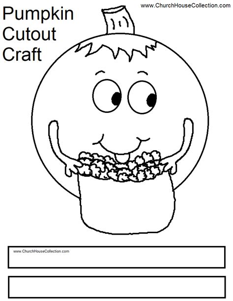 pumpkin coloring pages for sunday school pumpkin eating popcorn cutout craft