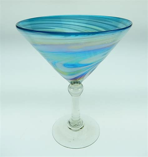mexican martini martini 15oz turquoise and white made in mexico mexican
