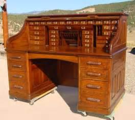 36 Wide Bookcase 1890 S Large Quarter Sawn Oak Paneled Quot S Quot Roll Top Desk
