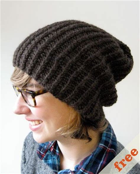 easy knitted beanies free patterns easy slouchy hat free pattern knitting