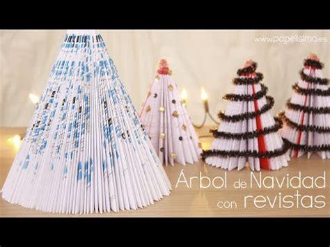 arboles de navidad hechos con revistas c 243 mo hacer 225 rbol de navidad con revista