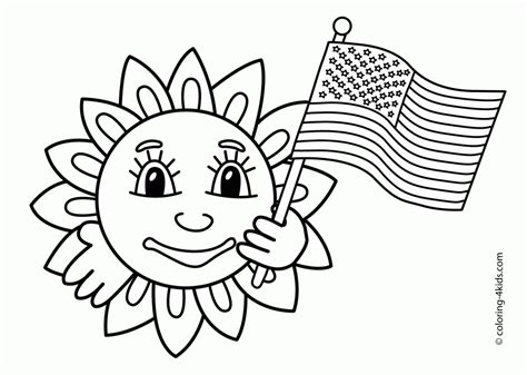flag day printable coloring pages