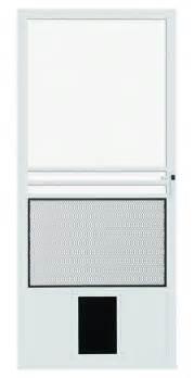 Sliding Screen Door With Dog Door Built In Pet Doors In Screen Doors And Glass Patio Doors